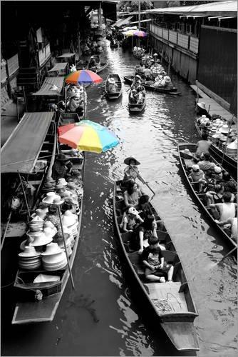Posterlounge Acrylglasbild 100 x 150 cm: EIN Markt in Bangkok, Thailland von Editors Choice - Wandbild, Acryl Glasbild, Druck auf Acryl Glas Bild