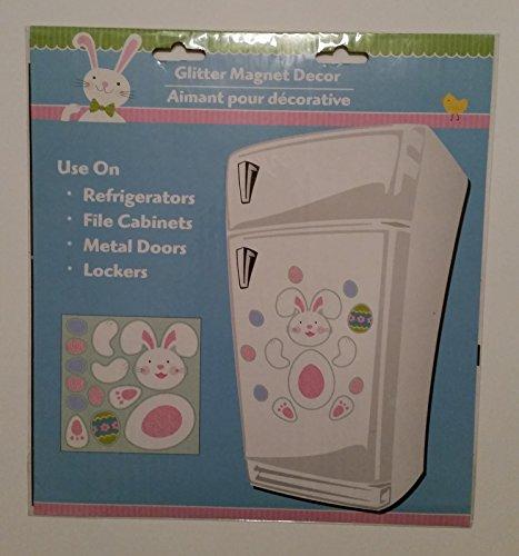 Ostern Bunny Glitter Magnet-Set von ()