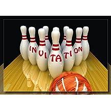 Amazon.fr : carte invitation anniversaire bowling - Livraison gratuite