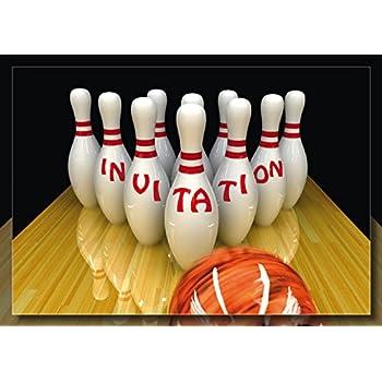 Edition Colibri Lot de 10 Cartes d'Invitation Bowling / QUILLES en Français pour Un Anniversaire ...