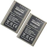 2x Batterie pour Olympus OM-D E-M1, OM-D E-M5 (Mark II), Pen E-P5, Pen-F (1140mAh) BLN-1