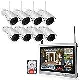 Überwachungskamera Set Außen Kabellos 8 Kanal mit 8 x 960P Wlan WiFi Sicherheitcameras 11