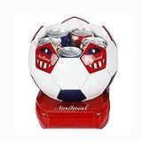 HuanLeBao Fußballform 5 Liter Kühlbox, zum warmhalten oder kühlen Auto / Familie? Halbleiter-Kühlung Mini-Kühlschrank , red white , 5L