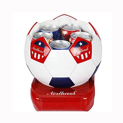 HuanLeBao Fußballform 5 Liter Kühlbox, zum warmhalten oder kühlen Auto / Familie? Halbleiter-Kühlung Mini-Kühlschrank , red white , 5L 5l X Usb