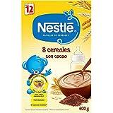 Nestlé Junior Papillas 8 Cereales con Cacao a Partir de 12 Meses - 600 gr