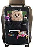 Premium Backseat Organizer for Kids, Cars - Large Size, FREE e-book, #1 Kids' Accessories, Car Seat Protector-Kick Mat, Made of Durable Material... (Large)