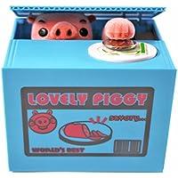 Preisvergleich für xinyiwei Funny Pig Geld gestohlen Coin Bank Spardose Sparschwein Creative Spardose–blau