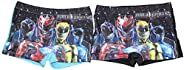 Traje de baño para niños Power Rangers, Conjunto de 2 Pantalones de baño con Rangers morados, Amarillos, Rojos