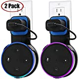 Echo Dot Wall Mount Case Holder Stand for Alexa Dot 2nd Generation TOOVREN Space-Saving Hanger for Smart Home Speaker Without Mess Wires Or Screws - Short Charging Cable Included