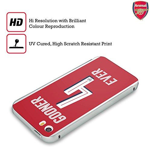 Ufficiale Arsenal FC Oooh To Be Gooners Argento Cover Contorno con Bumper in Alluminio per Apple iPhone 5 / 5s / SE Per Sempre