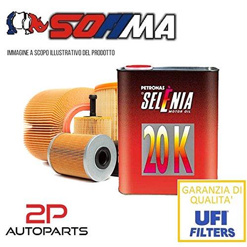 Kit tagliando auto, kit tre filtri e 3 litri olio motore Selenia 20K 10W40 (KF1010/so)
