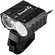 soonfire X7BIKE Faro: 2* CREE XM-L LED, 1800lúmenes, Far (R) y cerca (L) diseño de haz, más de 10modos, 8000mAh (6* 18650) batería recargable Pack, extra larga duración de la batería