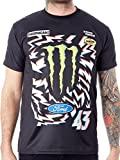 Hoonigan Ken Block Monster Energy Schwarz 2017 Official Premium T-Shirt (Medium, Schwarz)