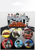GB Eye - Set di Spille My Hero Academia, in Alluminio, 14 x 0,3 x 10 cm