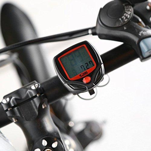 Swiftswan Vélo Compteur Compteur De Vitesse Vélo Numérique LCD Vélo Ordinateur LCD Compteur D'odomètre Compteur De Vitesse pour Vélo SD-548B