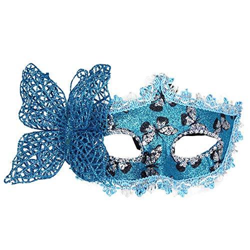 (Lazzboy Karneval Maske Schmetterlingsmaske für Party(Blau))