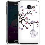Samsung Galaxy A3 (2016) Housse Étui Protection Coque Oiseau Cage Pastel