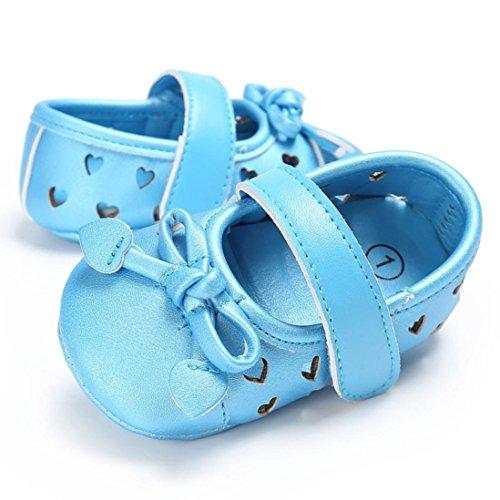 BZLine® Baby Kleinkind kinder kleinkind mädchen Leder newborn Schuhe Sneakers Blau