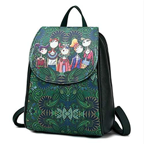 Damen PU Schultertasche Rucksack Lady Fashion Vintage Backpack -