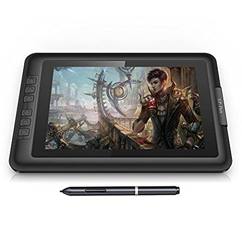 """XP-Pen Artist10S IPS 10.1"""" Drawing Pen Display Graphics Drawing Monitor with Battery-free Passive Pen HDMI Cable (Black)"""