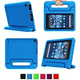 "Fintie Fire 7 2015 Case - Kiddie Series Light Weight Shock Proof Convertible Handle Stand Cover Kids Friendly for Amazon Fire 7 Tablet (Fire 7"" Display 5th Generation - 2015 release), Blue"