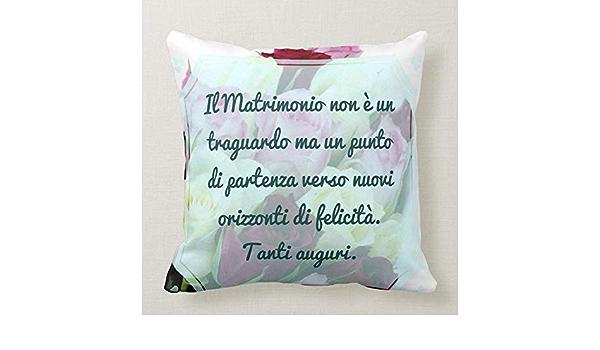 Cuscino Pillow Promessa Matrimonio Bride Auguri Congratulazioni 2 Divano Arredamento Idea Regalo Amazon It Casa E Cucina