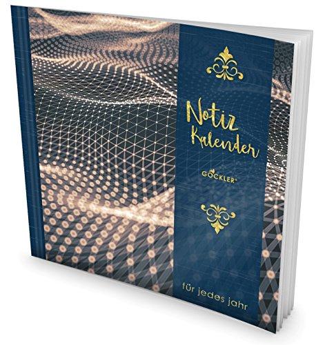 GOCKLER® Notiz-Kalender: Universaler Tagebuch-Kalender || 1 Zeile pro Tag + Notizseiten + Glänzendes Softcover || Ideal für Erinnerungen, To Do's & Termine || DesignArt.: Molekular