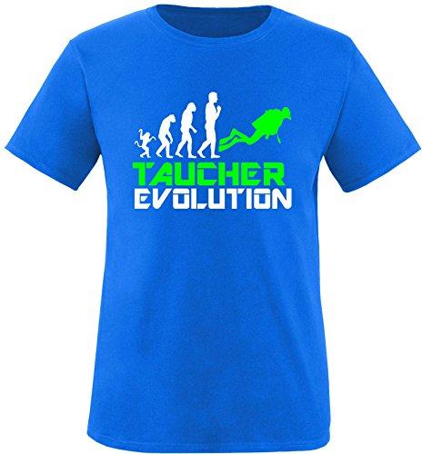 EZYshirt® Taucher Evolution Herren Rundhals T-Shirt Royal/Weiss/Neongr