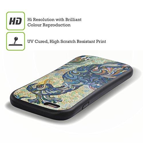 Ufficiale Erika Pochybova Ghiandaia Blu Uccelli Case Ibrida per Apple iPhone 7 / iPhone 8 Pavone 2