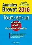 Le tout-en-un Français, Maths, Histoire-Géographie, Education civique : Sujets et corrigés
