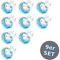 FIBARO Wall Plug Zwischenstecker Typ F Schuko Smart Steckdose Funk Z-Wave + GEN5 Color 9er Set
