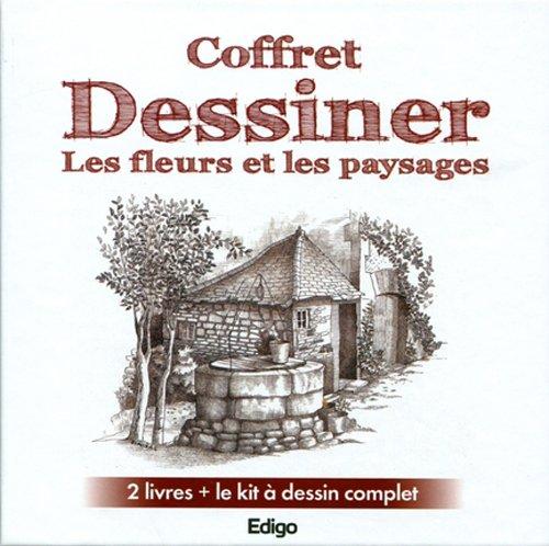 Coffret Dessiner les fleurs et les paysages: 2 livres + le kit  dessin complet (Dessiner les fleurs, dessiner les paysages de France).