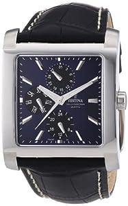 Reloj Festina F16235/J de cuarzo para hombre con correa de piel, color negro de Festina