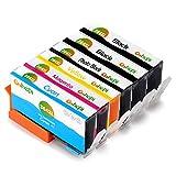 Gohepi 364XL (2 Nero,1 Foto Nero,1 Ciano,1 Magenta,1 Giallo) Cartucce Compatibili HP 364 per HP Photosmart 5520 6520 5510 7520 B110 C309 B8850,HP Deskjet 3070A 3520 3522,HP Officejet 4620 4622 4610