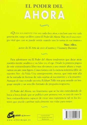 Opiniones del libro EL PODER DEL AHORA: Una guía para la Iluminación Espiritual de Eckhart Tolle
