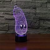 3D Acryl Unterhaltung LED Lampe USB Nachttisch 3D Licht Schlafsack Baby Beleuchtung als Spielzeug Geschenk
