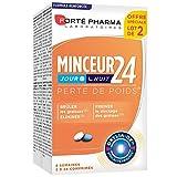 Forté Pharma Minceur 24 Jour/Nuit Brûleur de Graisse Pack de 2 x 28 Comprimés