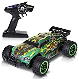 Enlarge toy image: SGILE Super Fast RC Toy Cars, Electric Off Road Vehicle petrol Buggy Racer, Rechargeable Remote Control High Speed Monster SUV with 4WD Rock Crawler for Kids (Green)