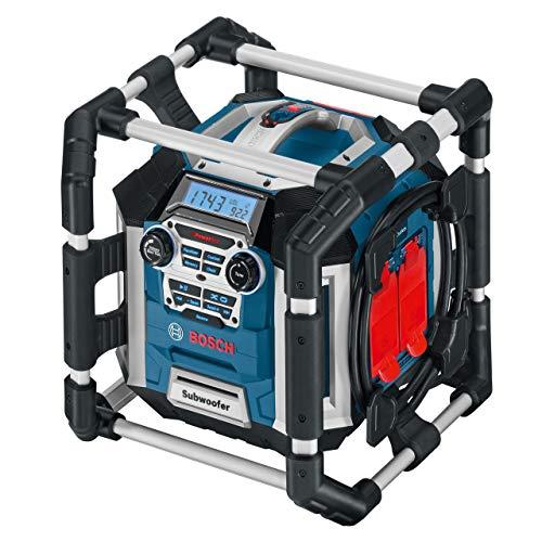 Bosch Professional 18V System Akku Baustellenradio GML 50 (50 Watt, USB, Aux-In, integrierter Akkulader, Fernbedienung, ohne Akkus und Ladegerät, im Karton)