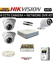 HIKVISION Full HD 2MP Cameras Combo KIT 4CH HD DVR+ 1 Bullet Cameras + 2 Dome Cameras+1TB Hard DISC+ Wire ROLL +Supply & All Required Connectors
