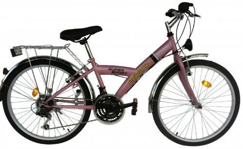 2Fast4You Kinder Kinderfahrrad, Pink, Rahmenhöhe: 36 cm, Reifengröße: 24 Zoll (61 cm), 2417