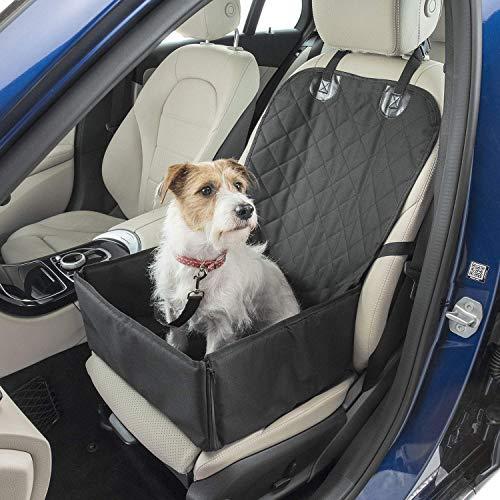 Bank-standard-polsterung (WYFFYFF Hund Sitzbezug Gratis Haustier Sicherheitsgurt Wasserdichtes Gehäuse (2 in 1) Faltbares, vollständig geschlossenes Vorderteil oder kleines Reisezubehör für Körbe)