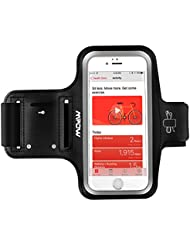 Mpow Running Armband for iPhone 8 / 7 / 6s / 6 Samsung Galaxy S5/S6/S7/S6 Edge up to 5.1 inches iPhone Running Sport Armband + Earphone and Key Holder, Adjustable Size, Safety Design for Exercise, Gym, Jogging, Cycling, Hiking, Walking - with Extension Strap