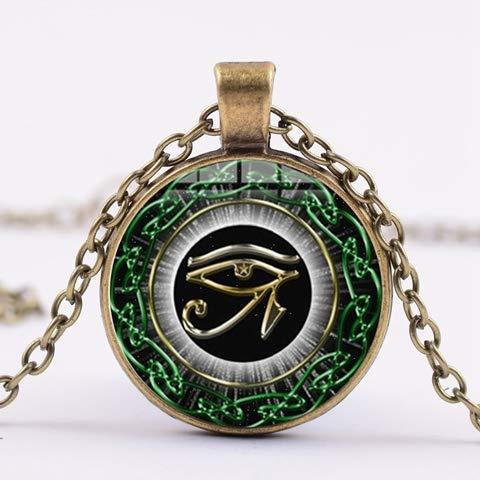 Kostüm Schmuck Alten Ägyptischen - Vintage Das Auge Des Horus Halskette Für Frauen Männer Alten Ägyptischen Magie Amulett Glück Halskette Statement Schmuck