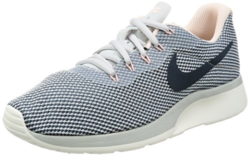 Nike Wmns Tanjun Racer, Chaussures de Running Femme Multicolore (Pure Platinum/armory Navy/armory Blue)