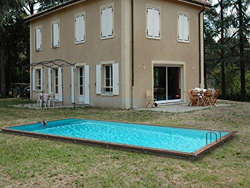 Pool Holz waterclip Sikinos 980x 480x 147cm Außerhalb Boden rechteckig