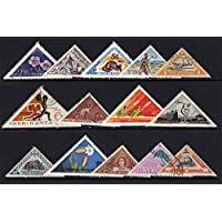 IHC Triangles World Wide Stamps, Large (Multicolour) - Pack of 25