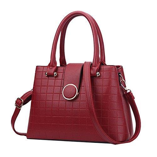 Yy.f Damelederhandtasche Großer Retro- Beutel Schulterbeutelhandtasche Handtaschendamenbeutel Stilvolles äußeres Praktisches Inneres Black