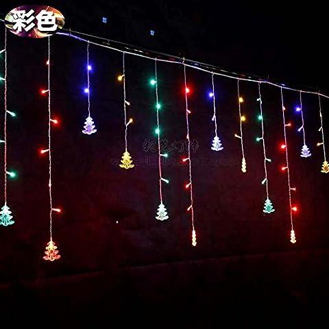Illuminazione per esterni per case Natale Decorazioni Patio Holiday albero di Natale le luci a LED lampeggianti spie luci,Colore 4 m ghiacciolo luce