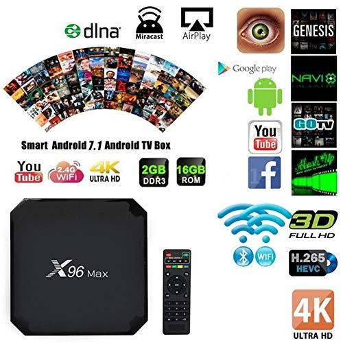 SAWEY Android 8.1 TV Box X96 Max TV-Gerät Top-Box S905W Netzwerk-Player 4G RAM 64G ROM Android 8.1 HD 4k Player Für Heimkino Spiele Spielen (1000 Meter Netzwerk-Ethernet) - Chipsatz Ram